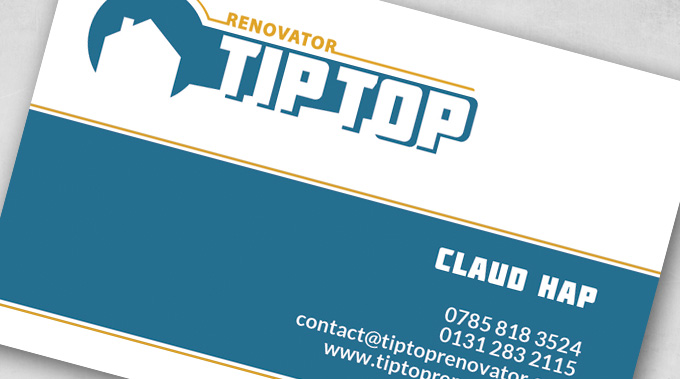 Renovation company business cards tv film and video production these personal business cards created on matte 300 g paper represent the solid structure and professionalism of tip top renovations colourmoves